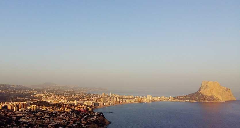 Кальпе - вид города с высоты