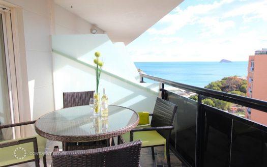 Двухэтажного пентхаус на первой линии моря в аренду в Испании (Коста Бланка — Benidorm)
