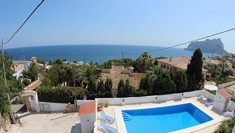 Вилла рядом с бухтой в аренду в Испании (Коста Бланка — Calpe)