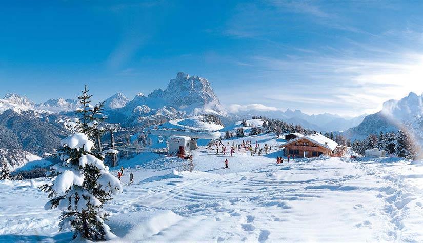 Горнолыжные курорты, Доломитовые Альпы, Италия