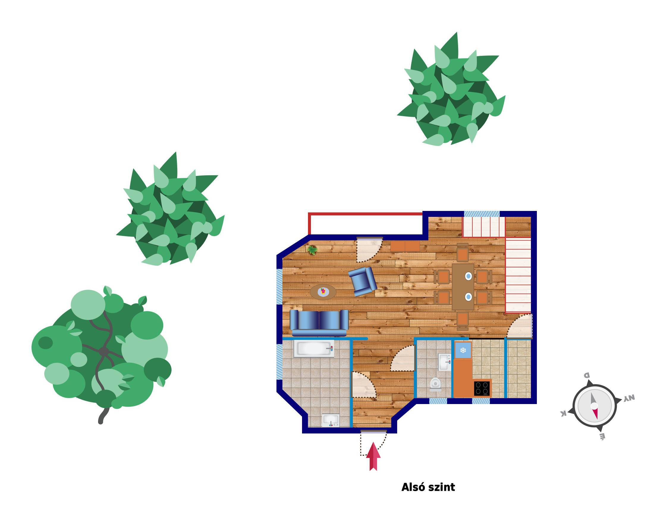 План 1-го этажа квартиры