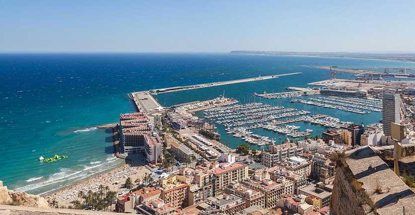 Морской порт Puerto de Alicante (Аликанте)