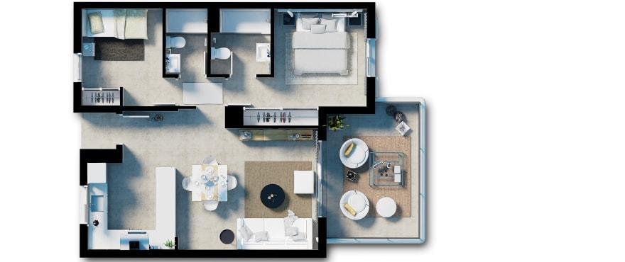 План апартаментов