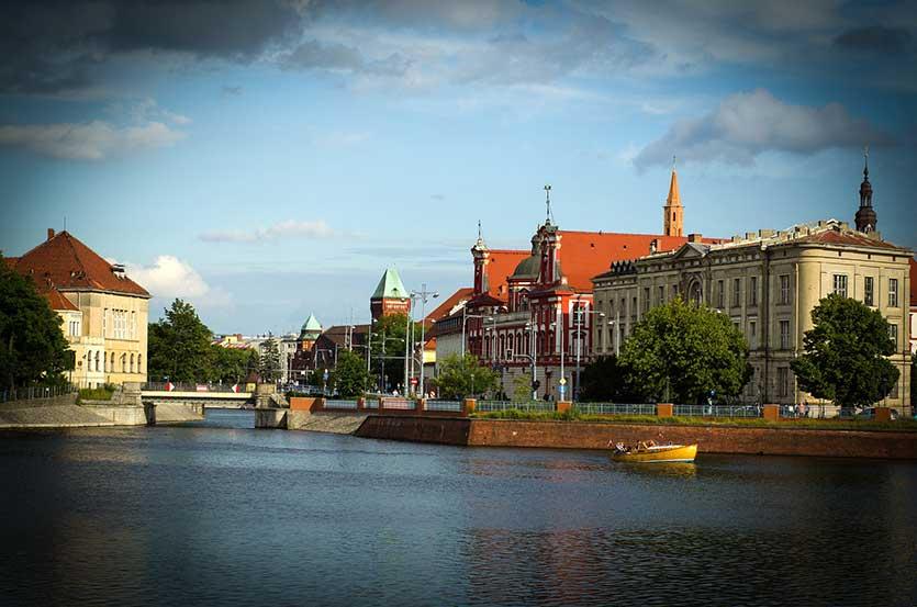 Основные районы города Вроцлав (Wroclaw), Польша